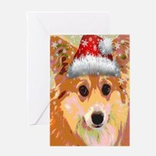 Santa Corgi Card Greeting Cards