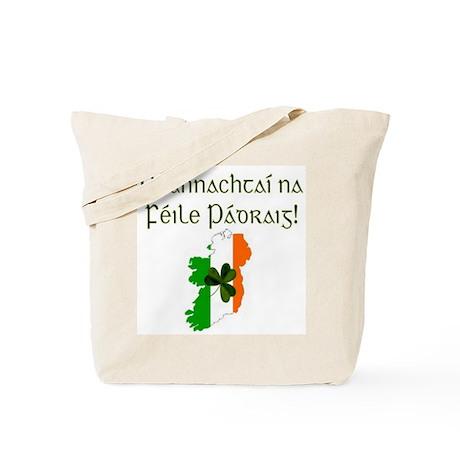 Gaelic & Map of Ireland Tote Bag