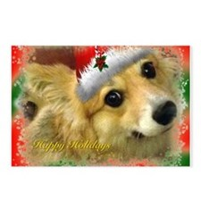 Christmas Corgi Postcards (Package of 8)