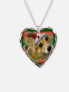 Christmas Corgi Necklace