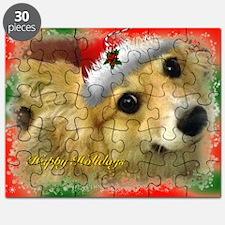 Christmas Corgi Puzzle