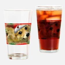 Christmas Corgi Drinking Glass