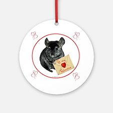 Chin Valentine Ornament (Round)