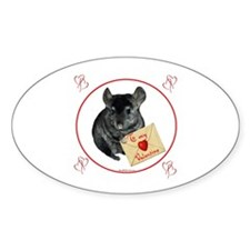 Chin Valentine Oval Decal