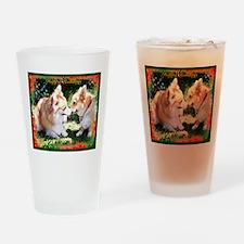 Happy Holiday Corgis Drinking Glass