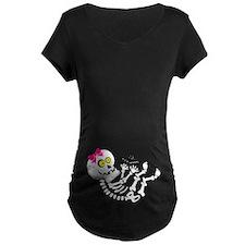 Maternity Skeleton Baby Girl T-Shirt