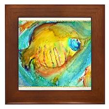 Fish! colorful tropical fish, art Framed Tile