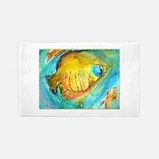 Fish! colorful tropical fish, art 3'x5' Area Rug