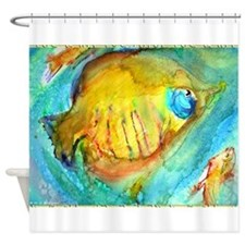 Fish! colorful tropical fish, art Shower Curtain