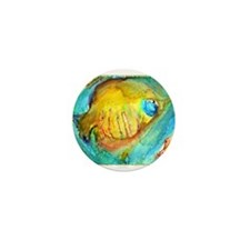 Fish! colorful tropical fish, art Mini Button