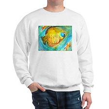 Fish! colorful tropical fish, art Sweatshirt