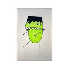 """FrankenPea"" Monster Rectangle Magnet"