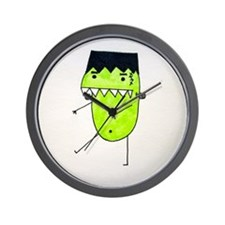 """FrankenPea"" Monster Wall Clock"