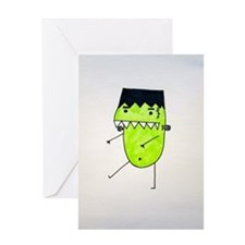 """FrankenPea"" Monster Greeting Card"