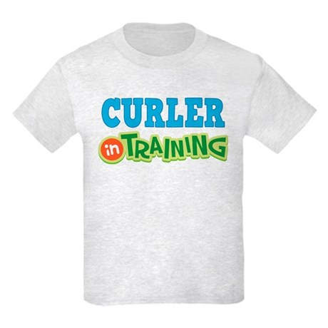 Curler in Training Kids Light T-Shirt