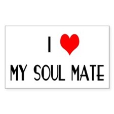I LOVE MY SOUL MATE Rectangle Decal