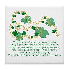 Irish Blessing Tile Coaster