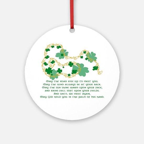 Irish Blessing Ornament (Round)