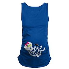 Baby Girl Skeleton Maternity Tank Top