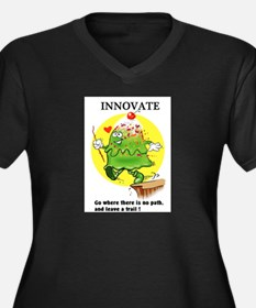 INNOVATE CARTOON QUOTE Plus Size T-Shirt