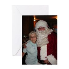 Helen and Santa Greeting Card