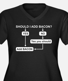 Bacon Humor Plus Size T-Shirt