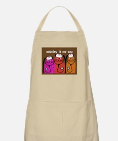 Whimsical Cats 5 Apron