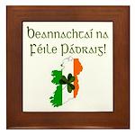 Gaelic & Map of Ireland Framed Tile