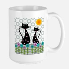 Whimsical Cats 4 Mugs