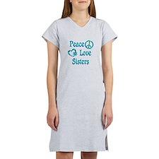 Peace Love Sisters Women's Nightshirt