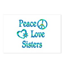 Peace Love Sisters Postcards (Package of 8)