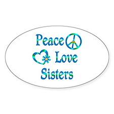Peace Love Sisters Bumper Stickers