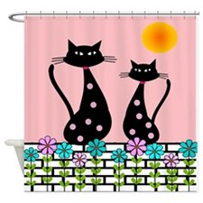 Whimsical Cats 3 Shower Curtain