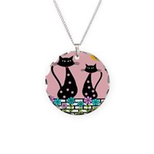 Whimsical Cats 3 Necklace