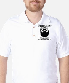 With Great Beard Comes Great Responsability T-Shirt