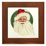 Vintage Santa Framed Tile