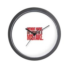 Without music, life would be a mistake Wall Clock
