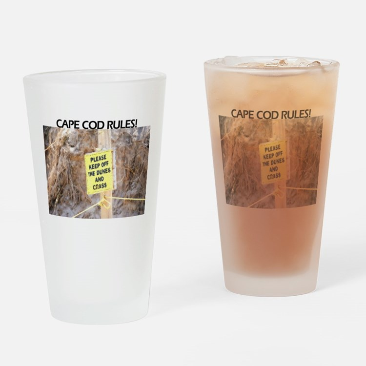 cape cod rules Drinking Glass