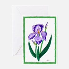One Purple Iris Greeting Card (3 Sizes)