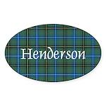 Tartan - Henderson Sticker (Oval 50 pk)