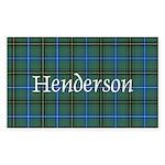 Tartan - Henderson Sticker (Rectangle 50 pk)