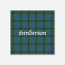 "Tartan - Henderson Square Sticker 3"" x 3"""