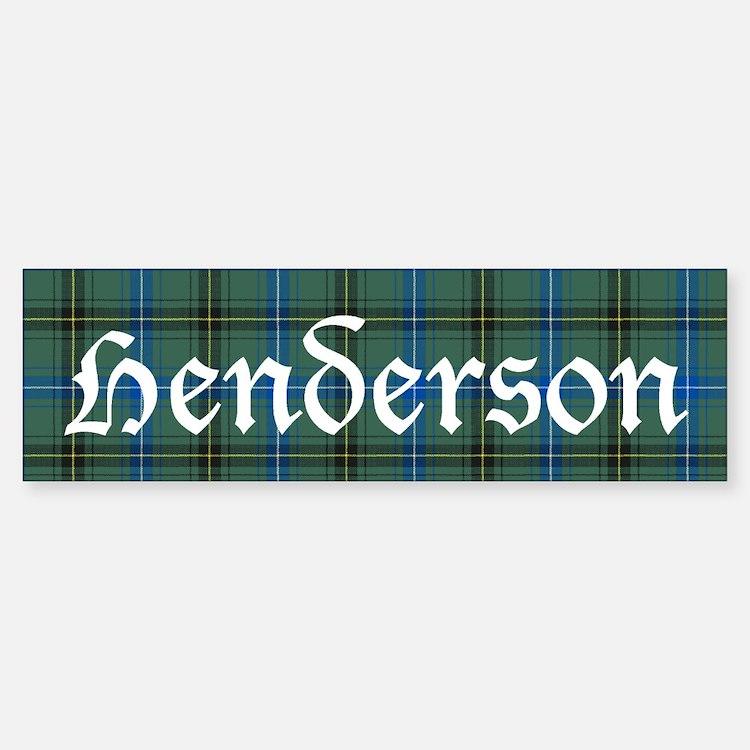 Tartan - Henderson Bumper Bumper Sticker