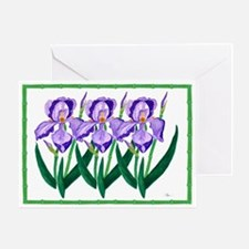 One - Purple Iris Garden Greeting Card (3 Sizes)