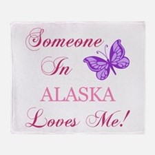Alaska State (Butterfly) Throw Blanket