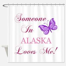 Alaska State (Butterfly) Shower Curtain