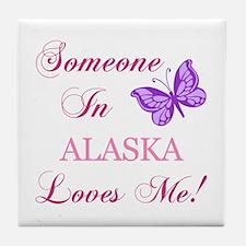 Alaska State (Butterfly) Tile Coaster