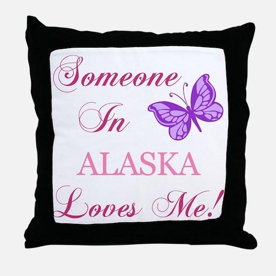Alaska State (Butterfly) Throw Pillow