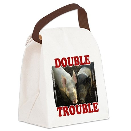 Double Trouble Canvas Lunch Bag