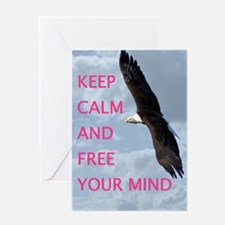 Free you mind Greeting Cards